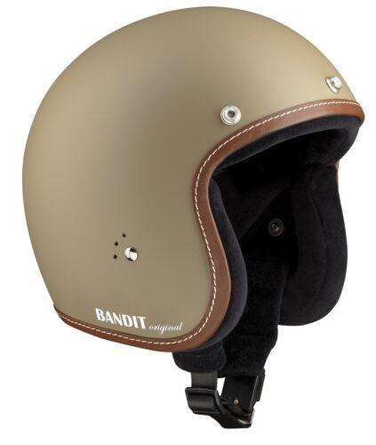 BANDIT casco Jet Premium beige sabbia opaco CASCO MOTO JET senza ECE M 57//58