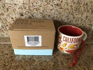 Starbucks 2018 BEEN THERE SERIES California Mini Mug 2 Oz Ornament Cup NEW Boxed