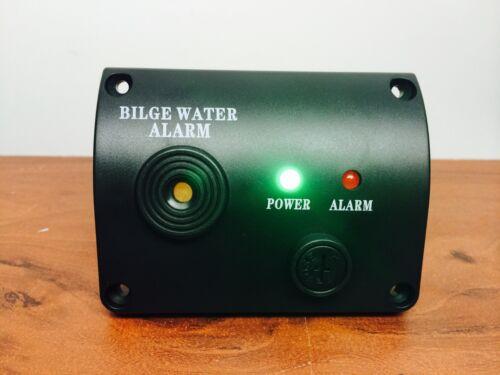 MARINE BOAT BILGE WATER ALARM 12VDC LED INDICATOR MADE IN BLACK ABS