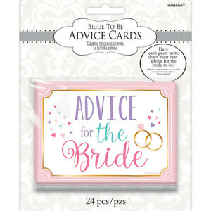24 marriage advice for the bride cards wedding reception hen party