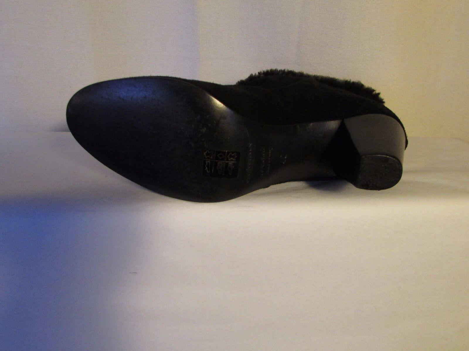 Stiefel/Stiefletten amerikanisch Retro Wildleder Modell chamonix 40 Wildleder Retro schwarz und 456aab
