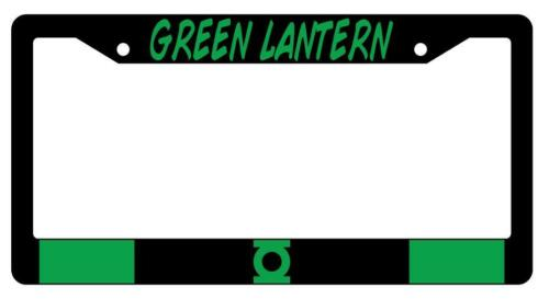 Green Lantern Black Plastic License Plate Frame Accessory DC