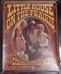 Vintage 1970s Little House on the Prairie Colorforms Play Set