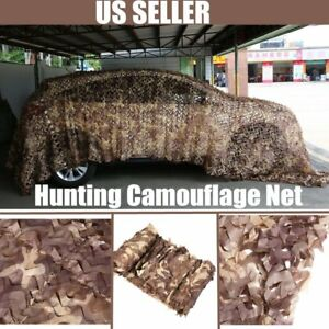 Desert Camouflage Military Net Camo Netting Hunting Camping Tent Cover UM