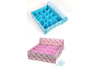 Foldable-underwear-sock-bra-tie-draw-DIVIDER-organiser-STORAGE-container-box