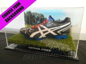 Signed-NATHAN-JONES-Football-Boot-PROOF-COA-Melbourne-Demons-2019-Guernsey