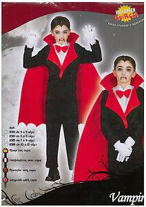 ABITO-Costume-di-CARNEVALE-HALLOWEEN-VAMPIRO-VAMPIRE-TG-7-9-ANNI-BAMBINO