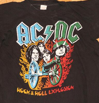 Initiative 1980's * Ac/dc * Vtg Rock Concert Tour T-shirt (m/l) Selten 70's 80's Acdc 1982