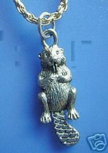 COOL Sea Otter Beaver Jewelry Real Sterling Silver 925 charm Pendant Jewelry