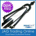 AQUATRACK DUAL FEED OUTBOARD BOAT MOTOR FLUSHER / WATER ENGINE EAR MUFFS