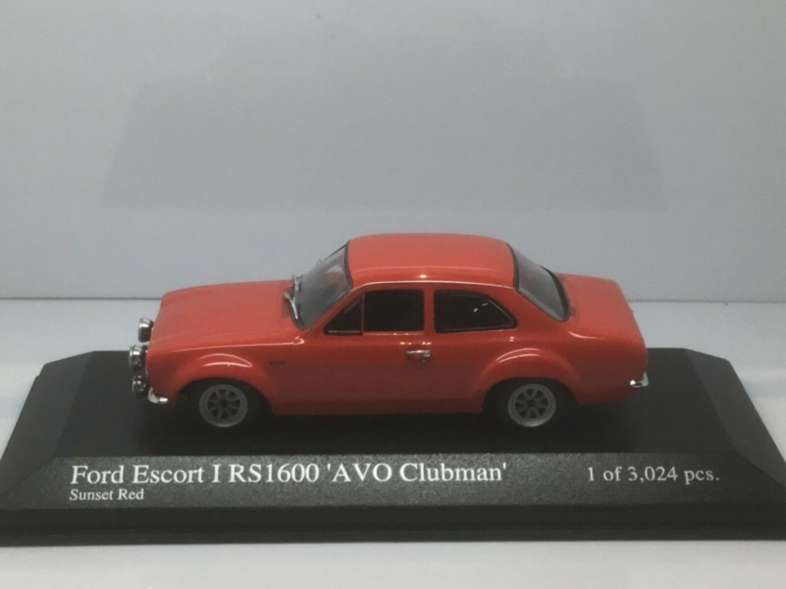 WOW EXTREMELY RARE Ford Escort MkI RS1600 RHD Clubman 1970 Red 1 43 Minichamps
