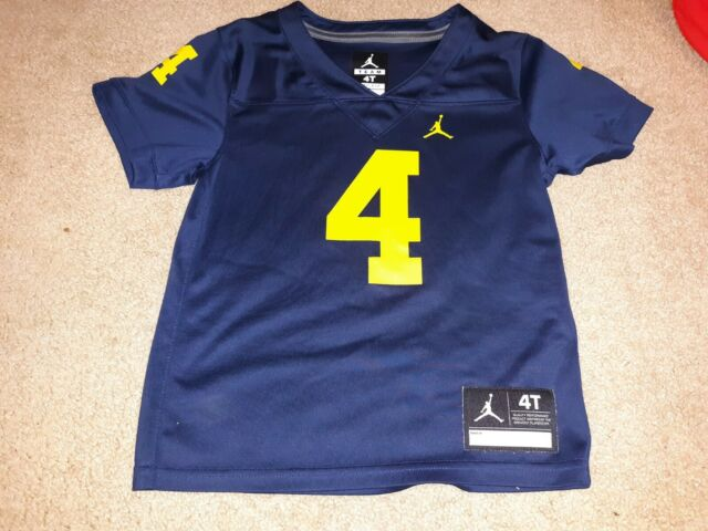 Michigan Wolverines #4 Football Jersey Baby Toddler 4T Jordan Brand Harbaugh