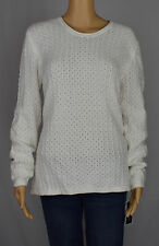 Karen Scott 3018 Womens White Cotton Knit Pullover Sweater Top ...
