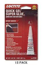 Loctite 37391 Quick Gel Instant Adhesive Super Glue Tube 12 Per Box