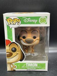 The-Lion-King-Funko-POP-Disney-Timon-Vinyl-Figure-86-NEAR-MINT-W-Soft-Case