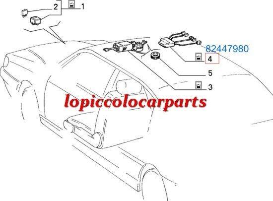 82447980 Centralina Tetto Apribile  Lancia Dedradal 1989al 1994 ORIGINALE
