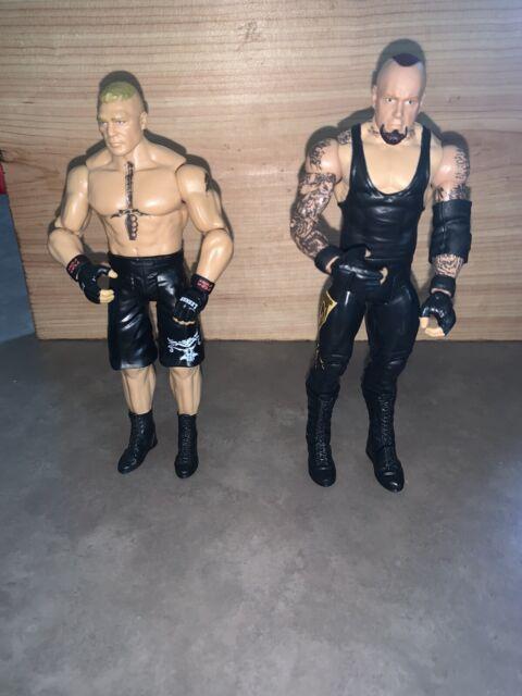 WWE Mattel Basic 63 103 Brock Lesnar The Undertaker Wrestling Action Figure Lot