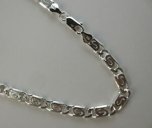 Details about D/C Flat Byzantine Chain For MEN  6mm Solid  925 Sterling  Silver  8,9,20,22 inch