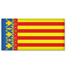 "VALENCIA Spain Flag car bumper sticker decal 5"" x 3"""