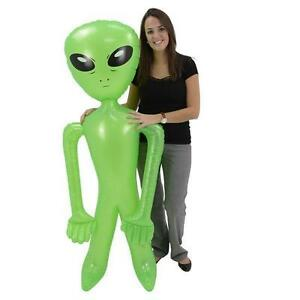 """1 INFLATABLE ALIEN 72"""" Inch Blow up Party Favor Halloween #AA93 Free Shipping"""
