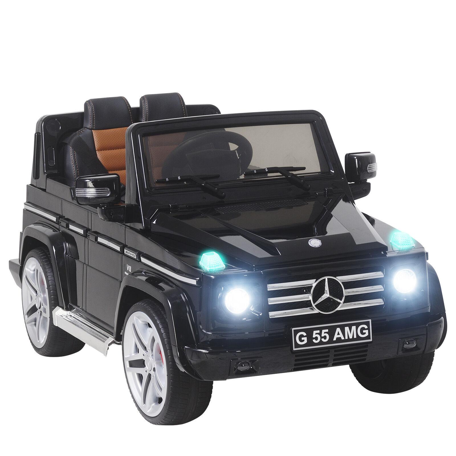 Mercedes - benz g55 12v - kinder mit spielzeug - auto gebackene lack 4 speed w   mp3