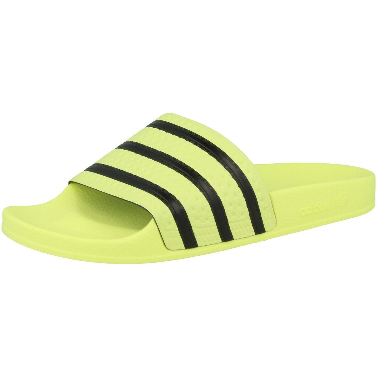 Adidas Adilette w flip flops bathing sandals pool shoes loafers yellow