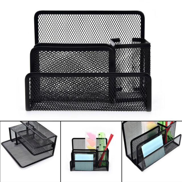 Charmant Black Mesh Letter Paper File Storage Rack Holder Tray Organiser Desktop  Office *