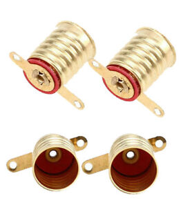 4-Four-Screw-In-E10-Lamp-Sockets-for-American-Flyer-Trains-S-Gauge-Parts
