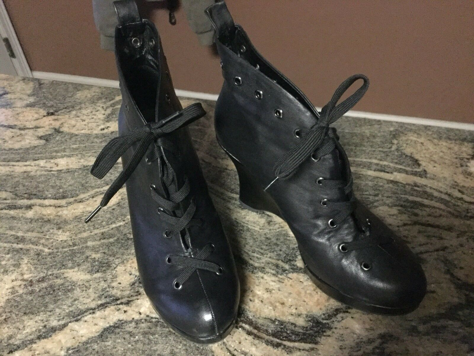 COOL CASUAL SLOW AND STEADY WINS THE RACE LACE UP PLATFORM schuhe SZ 9