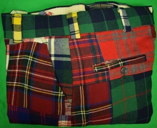 "Brooks Brothers Patchwork Tartan Trouser Sz: 32""W"