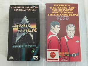 Star-Trek-25th-Anniversary-video-amp-40-years-of-Science-Fiction-TV-VHS-videos