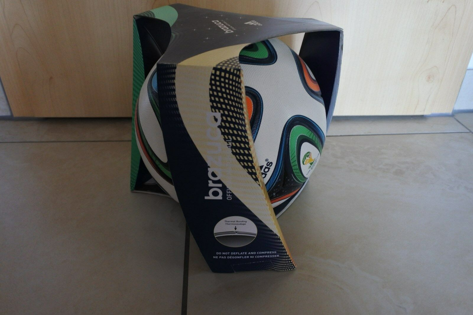 Adidas Brazuca Offical Match Ball WM WM WM 2014 Brasilien Gr. 5 NEU cdc42b