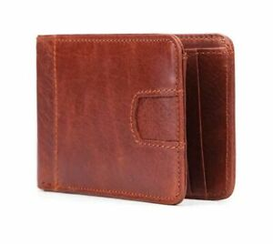 Genuine-leather-men-039-s-RFID-wallet-ultra-thin-small-wallet-Crad-holders-ID