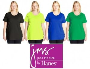 bed27609e62a4 Just My Size Women s Plus-Size Short Sleeve Crewneck T-Shirt JMS Tee ...