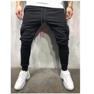 Herren-Jogginghose-Fitness-Jogger-Hose-Laufen-Casual-Athletic-Training-Hose