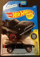 2017 Hot Wheels Super CUSTOM Fast & Furious '70 Dodge Charger with Real Riders