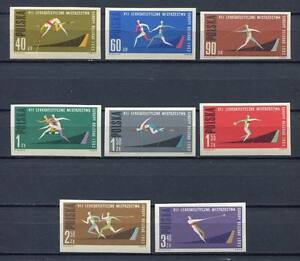 35696-Poland-1962-MNH-European-Athletic-Championships-8v-Imperf