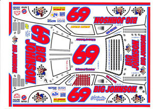 #69 E. Normus Big Johnson Red #s 1/24th - 1/25th Scale Waterslide Decals