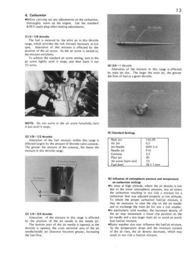 KAWASAKI Workshop Manual KX250 1974 /& 1975 VMX Maintenance Service /& Repair