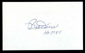Bobby Doerr d.2017 signed autograph 3x5 index card Baseball Player HOF 9251
