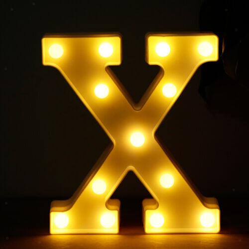 Kunststoff LED Leuchten Alphabet Buchstaben Lichter A bis Z Leuchtschild mit