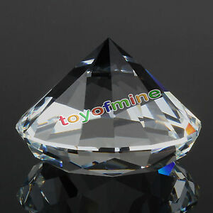 9-Colors-Glass-Crystal-Diamond-Shape-Paperweights-Facet-Jewel-Wedding-Gift-30mm