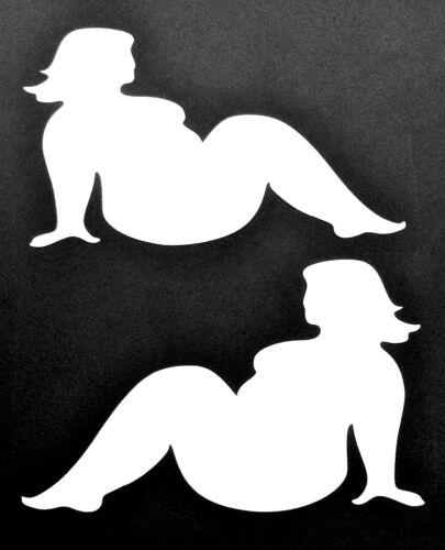NEW BLACK FAT TRUCKER GIRLS MUDFLAP BBW DECAL STICKER FORD CHEVY DODGE HONDA VW