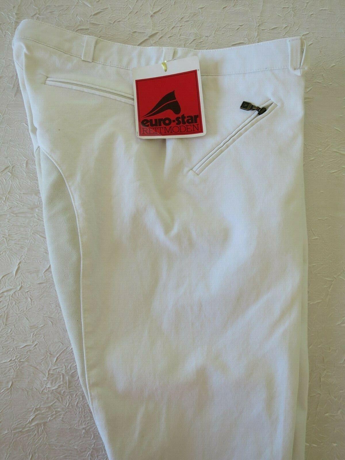 Pantaloni da uomo bianco EURO-STAR ORZO eccessivamente germinato GB 36 D 52 F 46 US 36 I 52 NUOVO