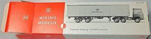 Etats-Unis-Lines-Semi-Remorque-avec-40-Pieds-Container-Carton-Blanc-Wiking-520-A