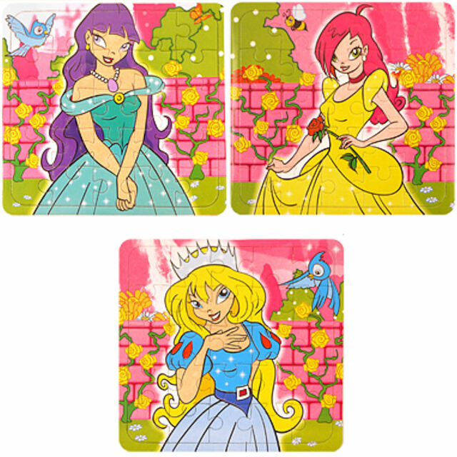 6 x Princess Jigsaw Puzzles - Children's Activities / Party Bag Filler Toys!