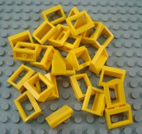 Lego Lote De 25 telhas 1x2 Amarelo Com Alça