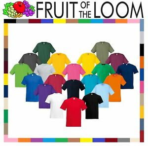 Fruit-of-the-Loom-Cotton-Plain-Blank-Men-039-s-Women-039-s-Original-Tshirt-T-Shirt-NEW