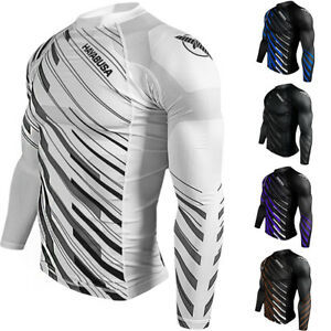 Hayabusa Metaru Charged Long Sleeve MMA Compression Rashguard