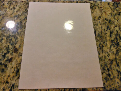 Glossy CLEAR inkjet printable vinyl 12in x 12in sheets 10 pack